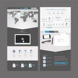 Projeto moderno do molde do Web site Foto de Stock