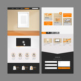 Projeto moderno do molde do Web site Fotos de Stock Royalty Free