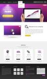 Projeto moderno do molde do Web site Imagens de Stock Royalty Free