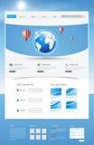 Projeto moderno do molde do Web site Imagem de Stock Royalty Free