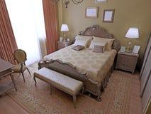 Projeto moderno do quarto Imagem de Stock Royalty Free
