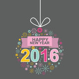 Projeto nenhuns do vetor do macaco do ano novo feliz 2016 3 Imagem de Stock