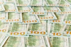 Projeto novo contas ou notas dos E.U. de $100 dólares Fotos de Stock Royalty Free