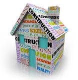 Projeto novo de Contractor Home Building do construtor da construção da casa Imagens de Stock
