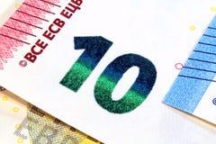 Projeto novo de dez euro- cédulas Fotos de Stock Royalty Free