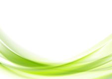 Projeto ondulado verde vibrante do vetor Fotografia de Stock
