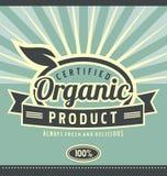 Projeto orgânico do cartaz do produto do vintage Fotografia de Stock Royalty Free