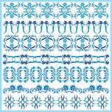 Projeto oriental azul um da beira do otomano Fotografia de Stock Royalty Free