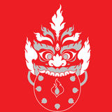Projeto oriental da arte da tatuagem do monstro Fotografia de Stock
