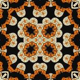 Projeto oriental ornamentado sem emenda Mandala infinita Foto de Stock