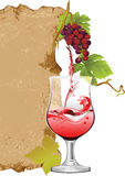 Projeto para a lista de vinho. Foto de Stock Royalty Free