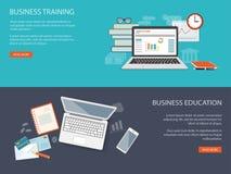 Projeto para o Web site do treinamento do negócio ilustração royalty free