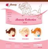 Projeto para a site da beleza Foto de Stock Royalty Free