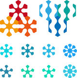 Projeto pentagonal, elemento sextavado do logotipo. Foto de Stock Royalty Free