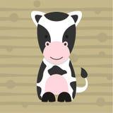 Projeto pequeno bonito e cartaz da camisa das crianças t da vaca Imagens de Stock