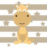 Projeto pequeno bonito e cartaz da camisa das crianças t do canguru Imagens de Stock