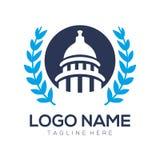 Projeto político do logotipo e do ícone ilustração royalty free