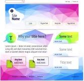 Projeto poligonal do Web site Ilustração Stock