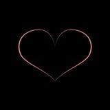 Projeto preto cor-de-rosa do coração ilustração do vetor