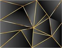 Projeto preto da ilustração do vetor do ouro da dimensão do fundo moderno ilustração stock