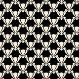Projeto preto e branco do teste padrão da repetição da planta de lótus Fotografia de Stock Royalty Free