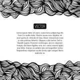 Projeto preto e branco do vetor abstrato com ondas Fotografia de Stock Royalty Free