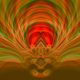 Projeto psicadélico bonito da ilustração da arte Arte finala gráfica surrealista Abstraia o ornamento Fundo de cor castanha Redem Imagem de Stock