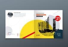 Projeto quadrado do folheto Folheto do molde do retângulo da empresa, relatório, catálogo, compartimento Disposição do folheto ilustração royalty free