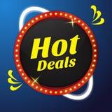 Projeto quente do botão do ícone do vetor do negócio Imagem de Stock Royalty Free