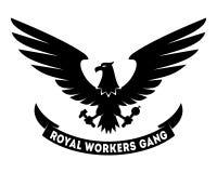 Projeto real da etiqueta do grupo dos trabalhadores Fotos de Stock