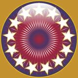 Projeto redondo brilhante das cores dos EUA Imagem de Stock Royalty Free