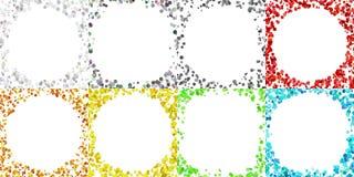 Projeto redondo do fundo da beira ajustado com pontos Fotos de Stock