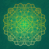 Projeto redondo floral do laço Imagem de Stock Royalty Free