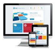 Projeto responsivo do App ilustração royalty free