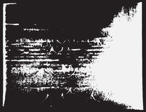 Projeto retro áspero velho de superfície abstrato Ilustração do vetor Molde sujo envelhecido do grayscale ilustração stock