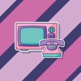 Projeto retro da televisão ilustração royalty free