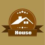 Projeto retro das etiquetas do logotipo do vintage de Real Estate da casa Imagem de Stock
