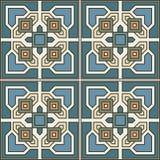 Projeto retro do azulejo do teste padrão sem emenda com ornamentado floral Foto de Stock