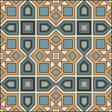 Projeto retro do azulejo do teste padrão sem emenda com ornamentado floral Imagens de Stock Royalty Free