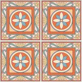 Projeto retro do azulejo do teste padrão sem emenda com ornamentado floral Textura infinita Fotos de Stock