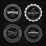 Projeto retro do círculo antigo da etiqueta do vintage do crachá ilustração stock