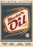 Projeto retro do cartaz do vetor do óleo de motor ilustração do vetor