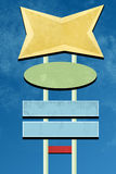 Projeto retro do sinal ilustração stock