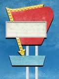 Projeto retro do sinal ilustração do vetor