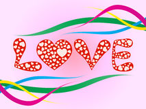 Projeto romântico do amor Foto de Stock