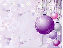 Projeto romântico do Natal azul do vetor Imagens de Stock Royalty Free