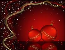 Projeto romântico do Natal vermelho do vetor Fotografia de Stock
