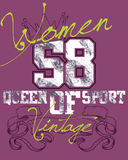 Projeto roxo dos esportes das mulheres Fotografia de Stock Royalty Free