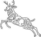 Projeto running dos cervos ilustração royalty free