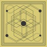 projeto sagrado do quadrado da geometria ilustração royalty free